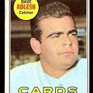 ST LOUIS CARDINALS DAVE ADLESH 1969 TOPPS # 341 fair/good