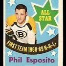 BOSTON BRUINS PHIL ESPOSITO ALL STAR 1969 OPC # 214