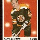BOSTON BRUINS WAYNE CASHMAN ROOKIE CARD RC 1970 TOPPS # 7 NM