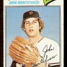 SAN FRANCISCO GIANTS JOHN MONTEFUSCO 1977 TOPPS # 370 good