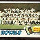 KANSAS CITY ROYALS TEAM CARD 1977 TOPPS # 371 good