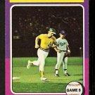 WORLD SERIES GAME 5 OAKLAND ATHLETICS JOE RUDI 1975 TOPPS MINI # 465 VG/EX