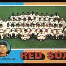 BOSTON RED SOX TEAM CARD 1975 TOPPS # 172 EX unmarked