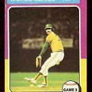 WORLD SERIES GAME 3 OAKLAND ATHLETICS ROLLIE FINGERS 1975 TOPPS # 463 VG/EX