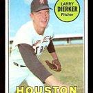 HOUSTON ASTROS LARRY DIERKER 1969 TOPPS # 411 EX