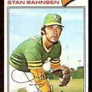OAKLAND ATHLETICS STAN BAHNSEN 1977 TOPPS # 383 good