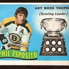 BOSTON BRUINS PHIL ESPOSITO ART ROSS TROPHY 1971 OPC O PEE CHEE # 247