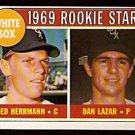 CHICAGO WHITE SOX ROOKIE STARS ED HERRMANN DAN LAZAR 1969 TOPPS # 439