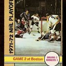 BOSTON BRUINS STANLEY CUP GAME 2 1972 OPC # 20 EX/EM