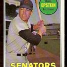 WASHINGTON SENATORS MIKE EPSTEIN 1969 TOPPS # 461 NR MT
