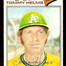 OAKLAND ATHLETICS TOMMY HELMS 1977 TOPPS # 402 VG