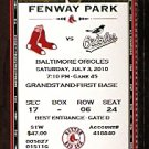 BALTIMORE ORIOLES @ BOSTON RED SOX 2010 TICKET ADRIAN BELTRE