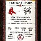 NEW YORK YANKEES @ BOSTON RED SOX 2010 TICKET JETER 2 HITS