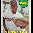 WASHINGTON SENATORS PAUL CASANOVA 1969 TOPPS # 486 fair/good