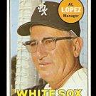 CHICAGO WHITE SOX AL LOPEZ 1969 TOPPS # 527 VG/EX