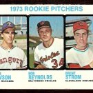 ROOKIE PITCHERS TEXAS RANGERS LAWSON BALTIMORE ORIOLES CLEVELAND INDIANS BRENT STROM 1973 TOPPS 612