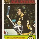 BOSTON BRUINS PHIL ESPOSITO ALL STAR 1975 OPC # 292 EX+ O PEE CHEE