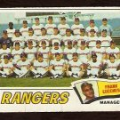 TEXAS RANGERS TEAM CARD 1977 TOPPS # 428 good unmarked checklist