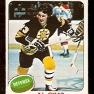 BOSTON BRUINS AL SIMS 1975 OPC # 136 NR MINT O PEE CHEE