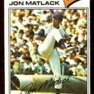 NEW YORK METS JON MATLACK 1977 TOPPS # 440 G/VG