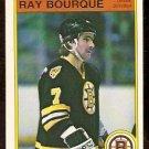 BOSTON BRUINS RAY BOURQUE 1982 OPC # 7 NM O PEE CHEE