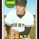 SAN FRANCISCO GIANTS BOBBY ETHERIDGE 1969 TOPPS # 604