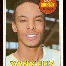 NEW YORK YANKEES DICK SIMPSON 1969 TOPPS # 608 EX MT