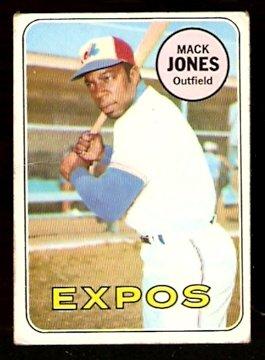 MONTREAL EXPOS MACK JONES 1969 TOPPS # 625 VG