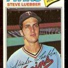 MINNESOTA TWINS STEVE LUEBBER 1977 TOPPS # 457