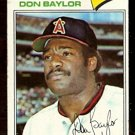CALIFORNIA ANGELS DON BAYLOR 1977 TOPPS # 462 VG