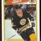 BOSTON BRUINS CAM NEELY 1988 OPC # 58 NR MT O PEE CHEE
