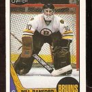 BOSTON BRUINS BILL RANFORD ROOKIE CARD RC 1987 OPC # 13 NR MT O PEE CHEE