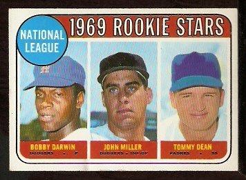 N.L. ROOKIE STARS LOS ANGELES DODGERS BOBBY DARWIN JOHN MILLER SAN DIEGO PADRES DEAN 1969 TOPPS 641