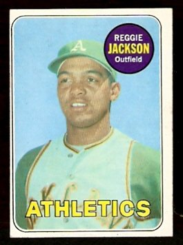 OAKLAND ATHLETICS REGGIE JACKSON ROOKIE CARD RC 1969 TOPPS # 260 EX MT