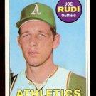 OAKLAND ATHLETICS JOE RUDI ROOKIE CARD RC 1969 TOPPS # 587 EX/EM