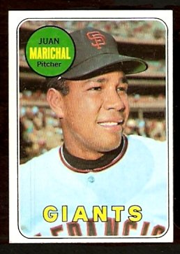 SAN FRANCISCO GIANTS JUAN MARICHAL 1969 TOPPS # 370 EM/NM
