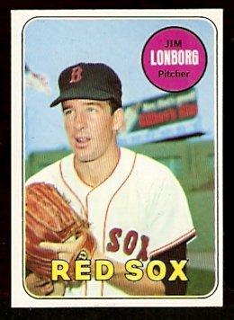 BOSTON RED SOX JIM LONBORG 1969 TOPPS # 109 NR MT