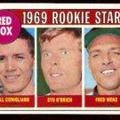 BOSTON RED SOX ROOKIE STARS CONIGLIARO O'BRIEN WENZ 1969 TOPPS # 628 EX+/EM