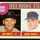 BOSTON RED SOX ROOKIE STARS KEN BRETT GERRY MOSES 1969 TOPPS # 476 EX