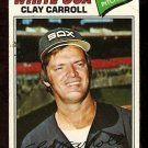 CHICAGO WHITE SOX CLAY CARROLL 1977 TOPPS # 497 VG
