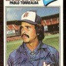 ATLANTA BRAVES PABLO TORREALBA 1977 TOPPS # 499 VG