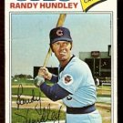 CHICAGO CUBS RANDY HUNDLEY 1977 TOPPS # 502 good