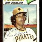 PITTSBURGH PIRATES JOHN CANDELARIA 1977 TOPPS # 510 G/VG