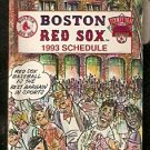 BOSTON RED SOX 1993 POCKET SCHEDULE