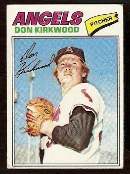 CALIFORNIA ANGELS DON KIRKWOOD 1977 TOPPS # 519 VG