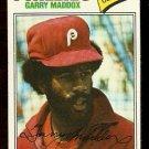 PHILADELPHIA PHILLIES GARRY MADDOX 1977 TOPPS # 520 VG
