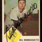 BOSTON RED SOX BILL MONBOUQUETTE AUTOGRAPH SIGNED 1963 FLEER # 7
