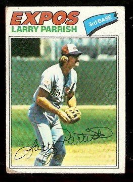 MONTREAL EXPOS LARRY PARRISH 1977 TOPPS # 526 good