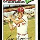 CINCINNATI REDS CESAR GERONOMO 1977 TOPPS # 535 VG