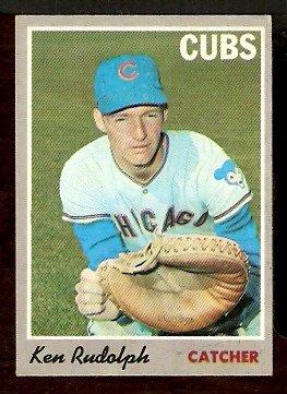 CHICAGO CUBS KEN RUDOLPH 1970 TOPPS # 46 EX/EM